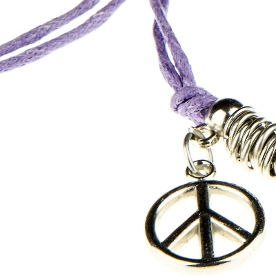 2 Peace Purple - lila béke karkötő